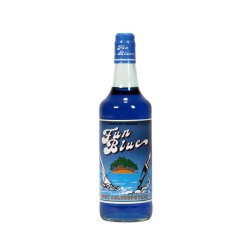 "Sirop menthe bleue gout chlorophylle ""Fun blue"" 1 LI"