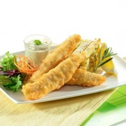 tender façon fish and chips 60-80g (colin) 1kg