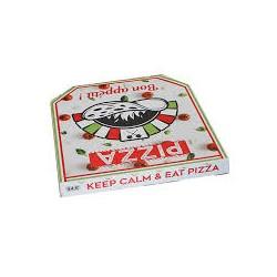 """boite à pizza 31x31x3.5cm Cennet """"keep calm""""x100"""