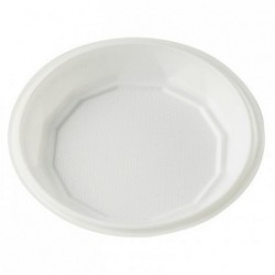 Assiettes rondes blanches creuses X 100